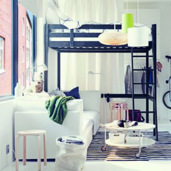bien meubler son studio. Black Bedroom Furniture Sets. Home Design Ideas